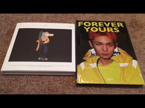 KEY 1st Solo Album FACE & FOREVER YOURS Music Video Storybook Unboxing  (K-Pop Haul #66)