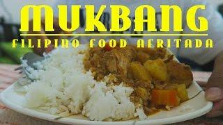 MUKBANG   Filipino Food Afritada   ASMR