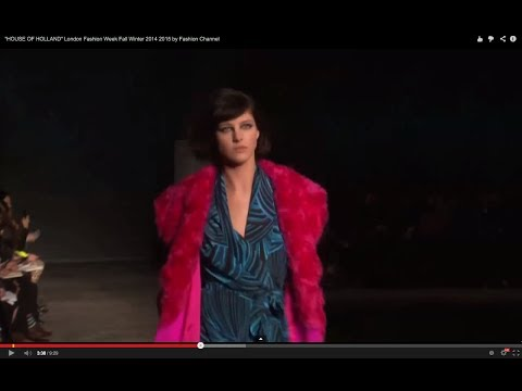 """HOUSE OF HOLLAND"" London Fashion Week Fall Winter 2014 2015 by Fashion Channel"