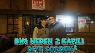 EMRECAN KARDEŞİMLE BİM'E GİDİP BİM NEDEN 2'KAPILI DİYE SORDUK !