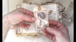 Vintage Romantic Shabby chic journal