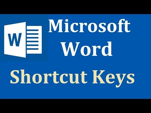MS Word shortcut keys (A TO H ) In Hindi Part 1  || 2018
