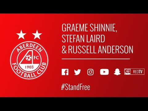 Graeme Shinnie, Stefan Laird & Russell Anderson on RedTV