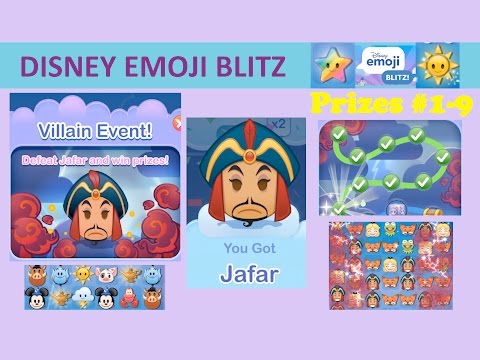 Disney Emoji Blitz Villain Event Jafar Intro Prizes 1 9 Jafar Power 1 Gameplay