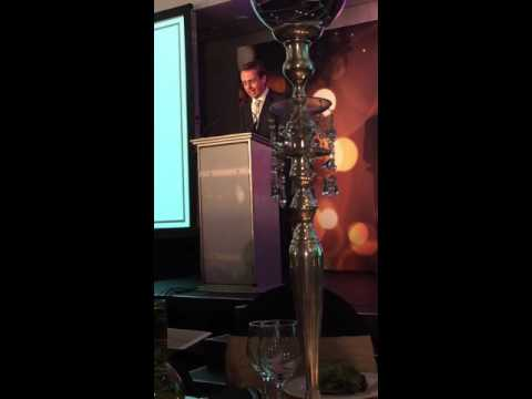 Gareth Gregory speaks at the Africa Energy Awards 2016 (Energy Security Services AFRICA)