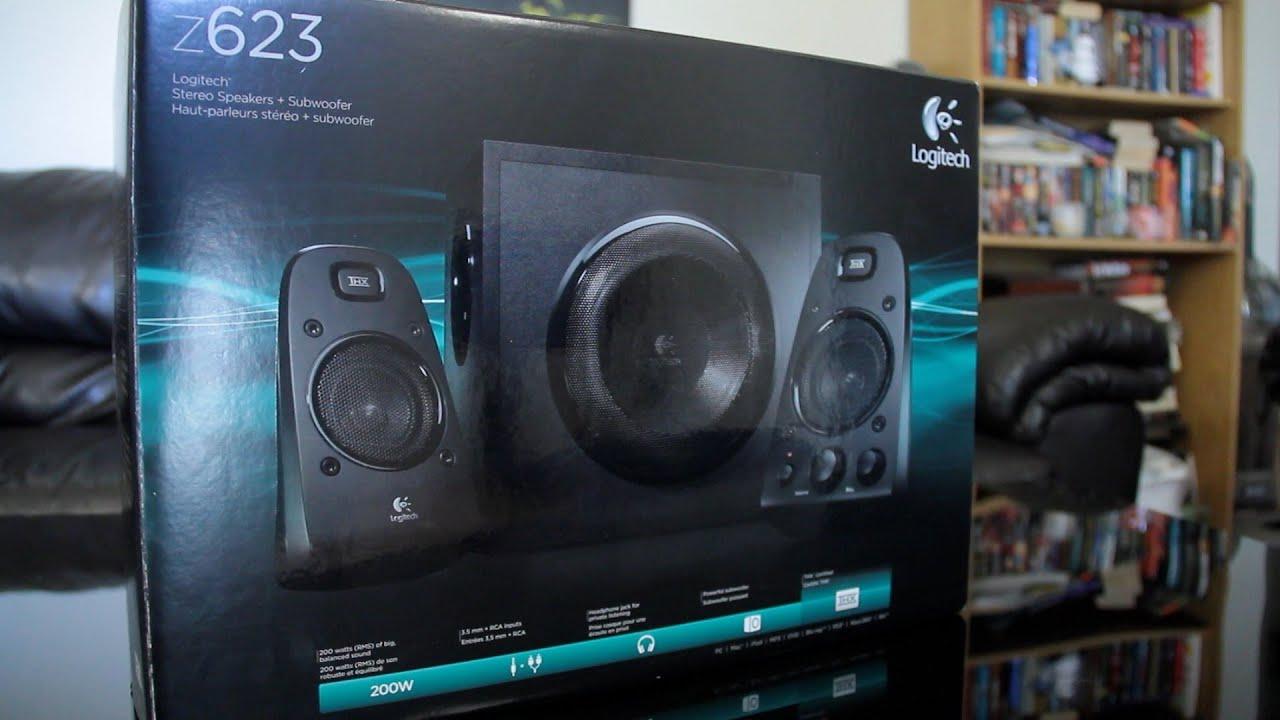 Logitech Thx Certified Z623 Speaker System Unboxing