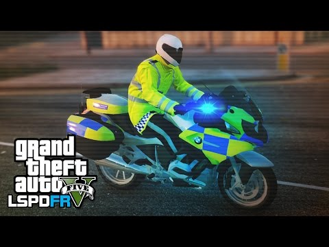 British Police Bike Patrol - GTA 5 LSPDFR:...