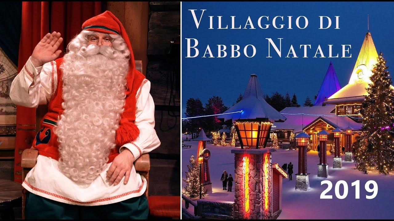 Rovaniemi Finlandia Villaggio Di Babbo Natale.Villaggio Di Babbo Natale A Rovaniemi Prima Di Natale 2019 Lapponia Finlandia Santa Claus Village Youtube