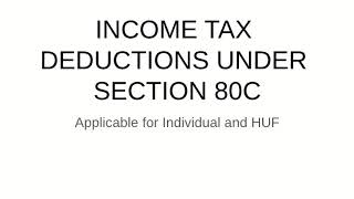 Section 80C of Income Tax Act Explained