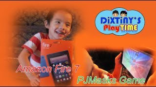 Amazon fire 7 and PJ MASKS GAME