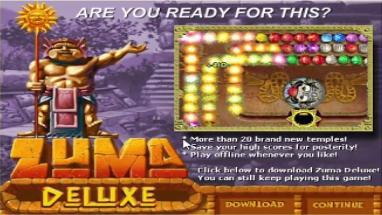 Color zuma game - Zuma Deluxe Game