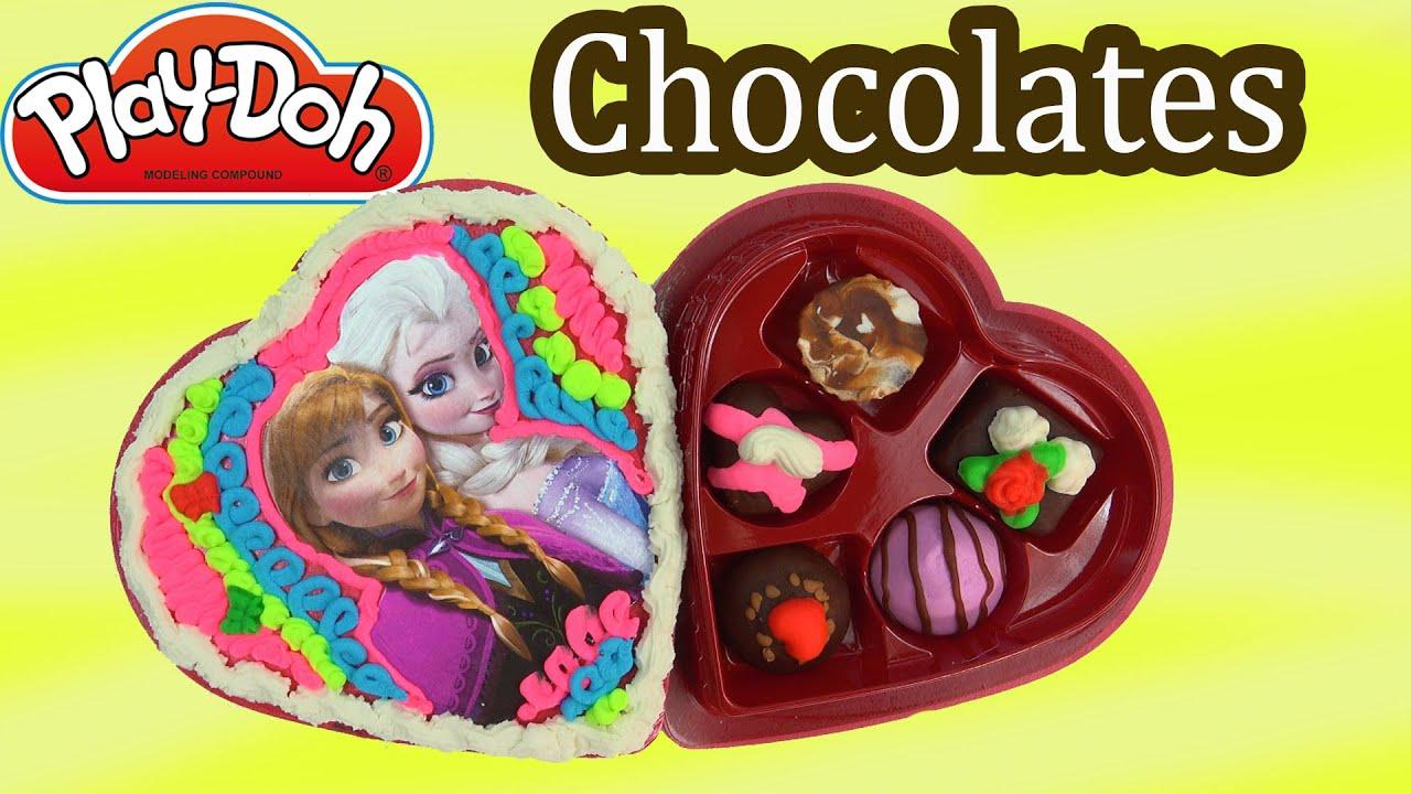 Playdoh Chocolate Candy Box Disney Frozen Queen Elsa Anna Valentines