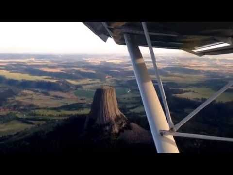 Orbiting the Devils Tower in my CH750.