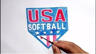 How to draw the USA Softball Logo