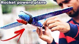 Experiment Rocket On A Foam Airplane Shocking Result Amazing 1000 Feet Flight