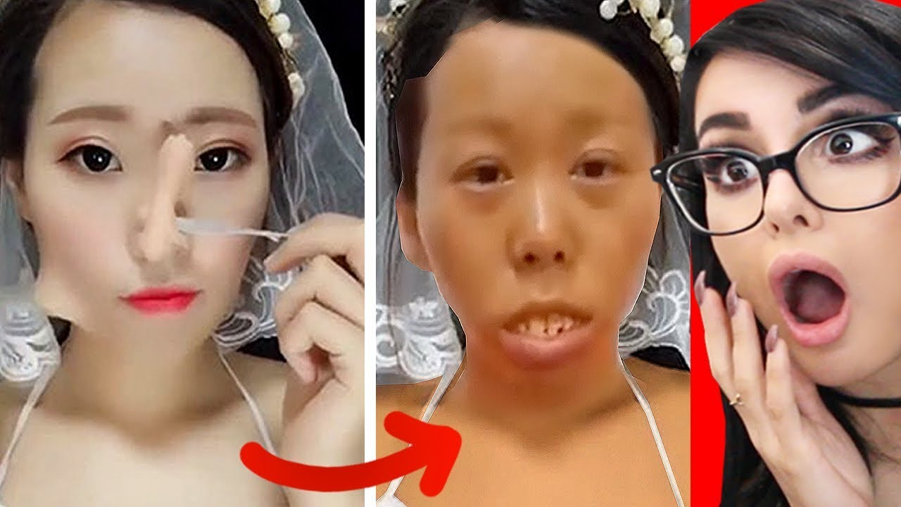 Crazy Viral Asian Makeup Transformations  Tutorials -7981