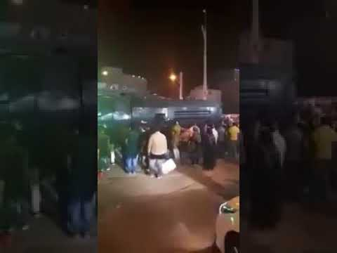 Iran - Abadan The riot police in Abadan Parade going  the intimidation of the people