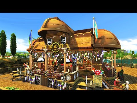 The Sims 4 | PIRATE BAR and RESTAURANT| Speed Build
