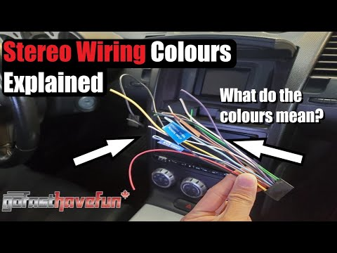 stereo wiring colours explained (head unit wiring) | anthonyj350 - youtube