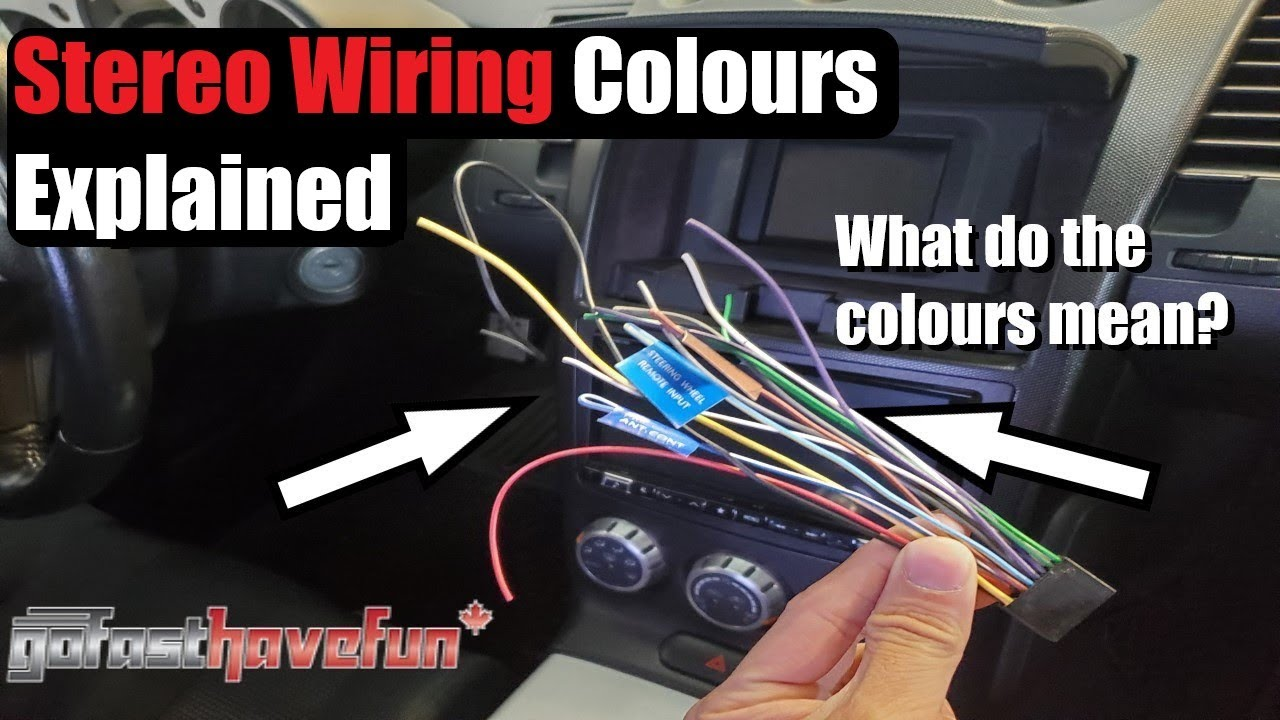 Stereo Wiring Colours Explained Head Unit Anthonyj350 Isuzu Radio Diagram Red Gray Youtube