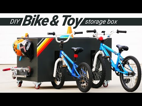 DIY Bike and Toy Storage for Kids | DIY Woodworking