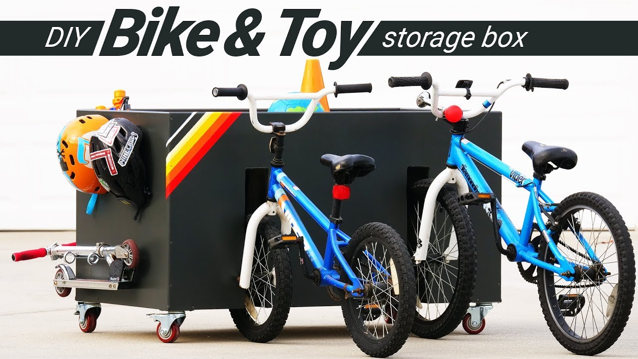 Diy Bike And Toy Storage For Kids Woodworking