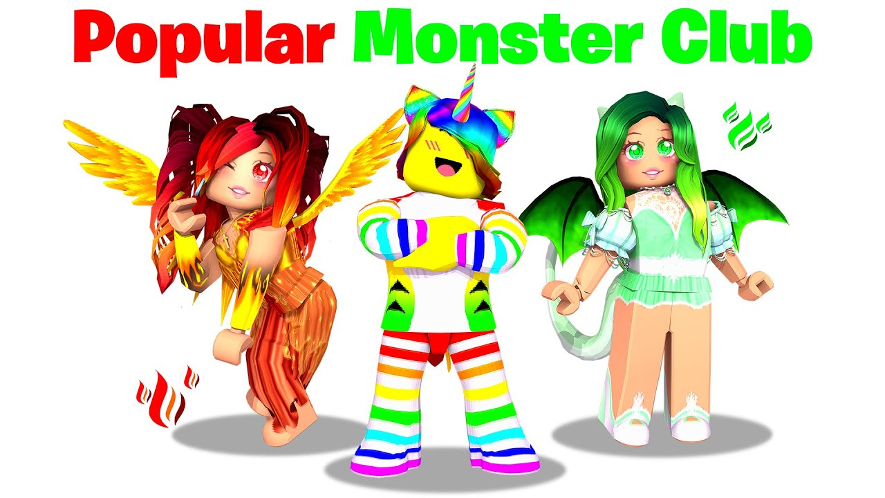 Download I joined the Monster School POPULAR KIDS Club.. 👻🧠 (Roblox)