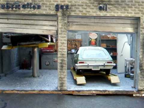 Model Car Garage Working Lift Youtube