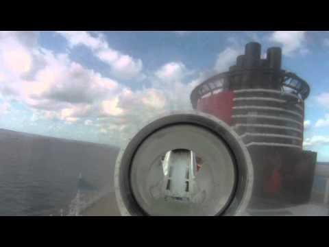 POV - Ride the Disney Fantasy Aquaduck water coaster - POV - Disney Cruise Line