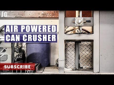 Air Powered Can Crusher   JIMBO'S GARAGE