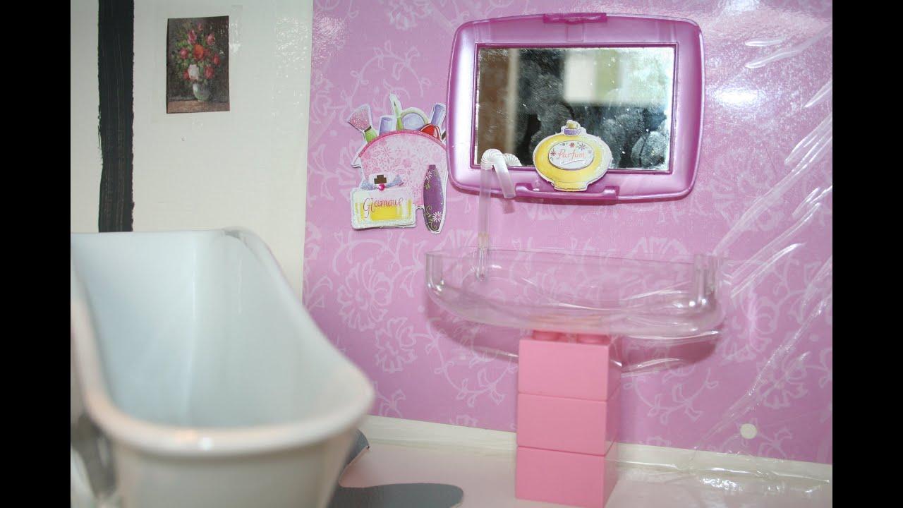 COMO FAZER PIA PARA BANHEIRO DA BARBIE   #89426F 2496x1664 Banheiro Da Barbie De Papelão
