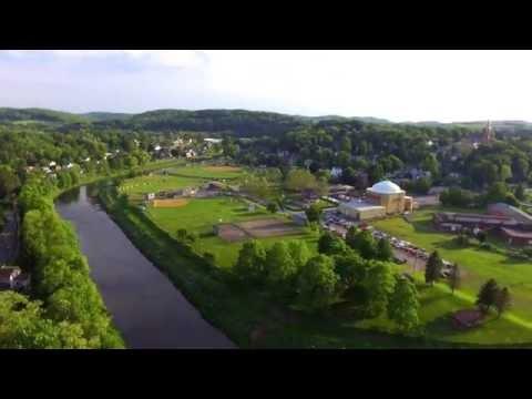 Memorial Park from the air, Brookville, Pennsylvania