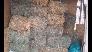 """Как сэкономить сено в 2-3 раза. Кормушка для скота """"Будка""""."""