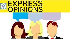How to express opinions - Diskussionen, Debatten & Argumentationen führen in Englisch