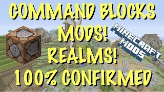 MINECRAFT XBOX - COMMAND BLOCKS + MODS / ADD ONS AND REALMS ALL CONFIRMED! BETTER TOGETHER UPDATE!