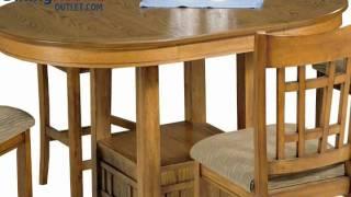 Liberty Furniture Santa Rosa Pub 5pc Casual Dining Room In Mission Oak Finish
