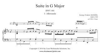 Handel : Suite HWV 441 (1/7 : Allemande)