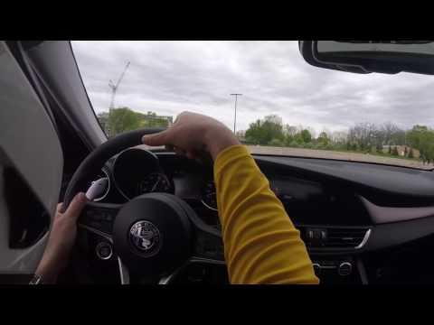 Alfa Romeo Giulia Ti Autocross Demo with Giggles