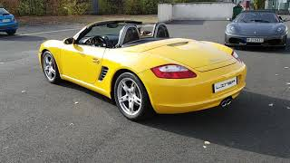 Porsche Boxster 987 Yellow speed 50000 kms