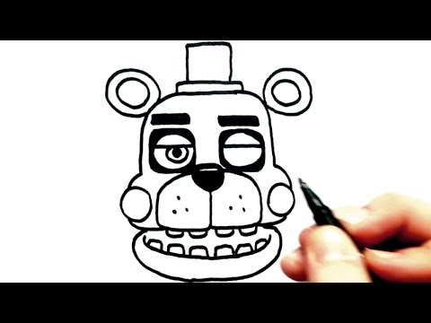 Speed Drawing FNaF 6 all characters  - Orville, Security Puppet, Lefty, Music Man, El Chip (Part1)