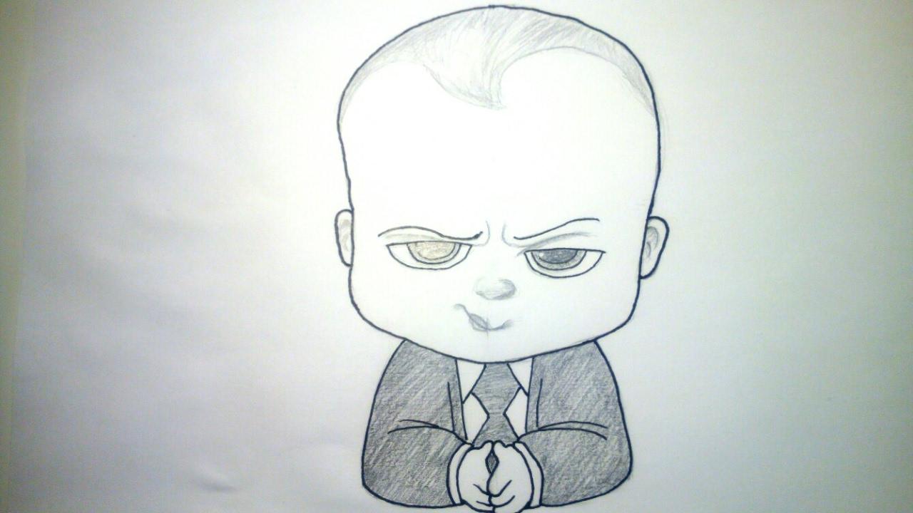 Cmo dibujar al beb Jefazo Jefe en Paales a lpiz paso a paso