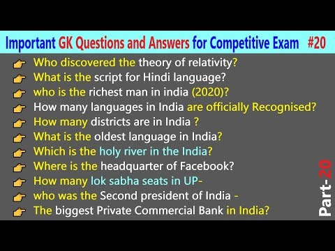 100 Important India GK Questions and Answers for Upcoming Competitive Exams    Part-20