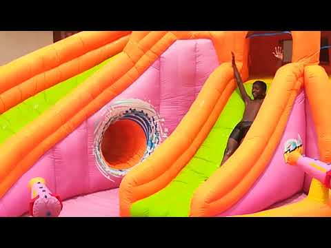 Banzai waterside bouncy castle