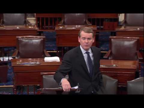 Sen. Michael Bennet Takes to Senate Floor During Senate Health Care Debate