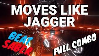 [beat saber] Moves Like Jagger - Maroon 5 ft. Christina Aguilera  (expert)