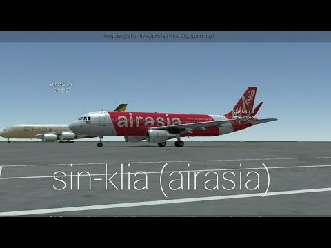 Infinite flight-Singapore-kuala lumpur Airasia ✈ A320 sharklet neo