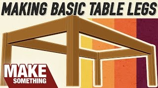 How to make table legs with stretchers using dowel joinery, Festool Domino and pocket holes. Subscribe for weekly woodworking
