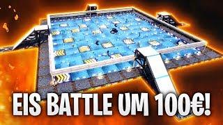 100€ SCHLITTSCHUH BATTLE in EIS ARENA! ☄️ | Fortnite: Battle Royale