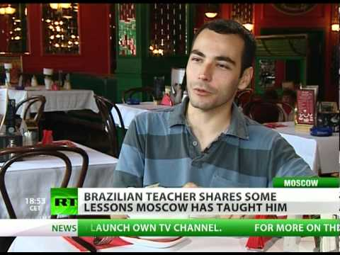 Brazilian teacher shares some lessons Moscow has taught him