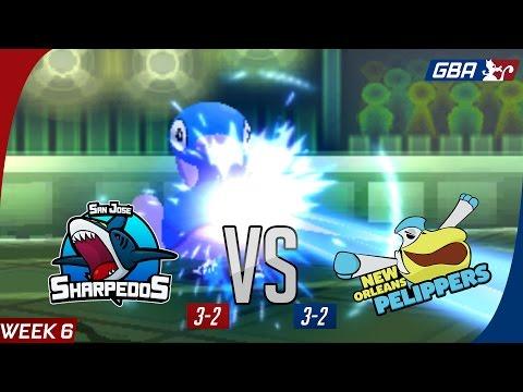 GBA S7W6: SJ Sharpedos [3-2] vs. New Orleans Pelippers [3-2] (P0kEmen)